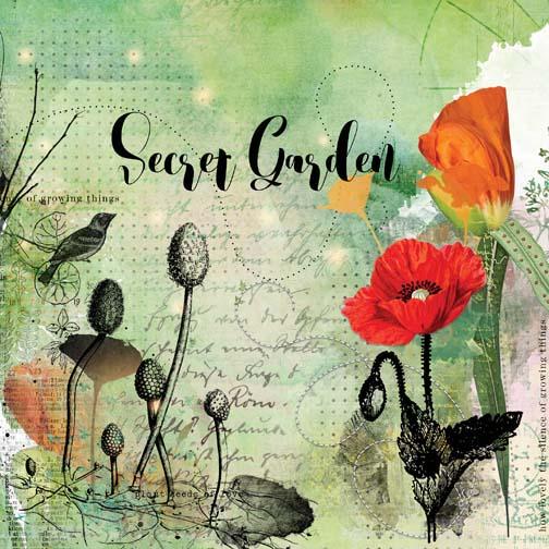 secret garden - mood board challenge
